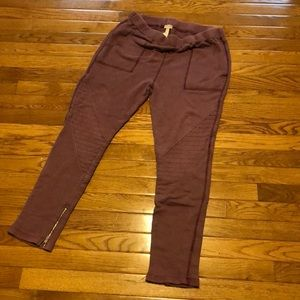 Purple free people pants